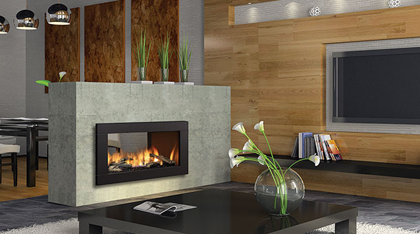 Gas fireplaces for See thru fireplaces