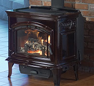 QuadraFire Explorer III Wood Freestanding Stove, in Mahogany